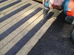 applying decking strips